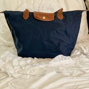 Longchamp Le Pilage Large Tote in Navy